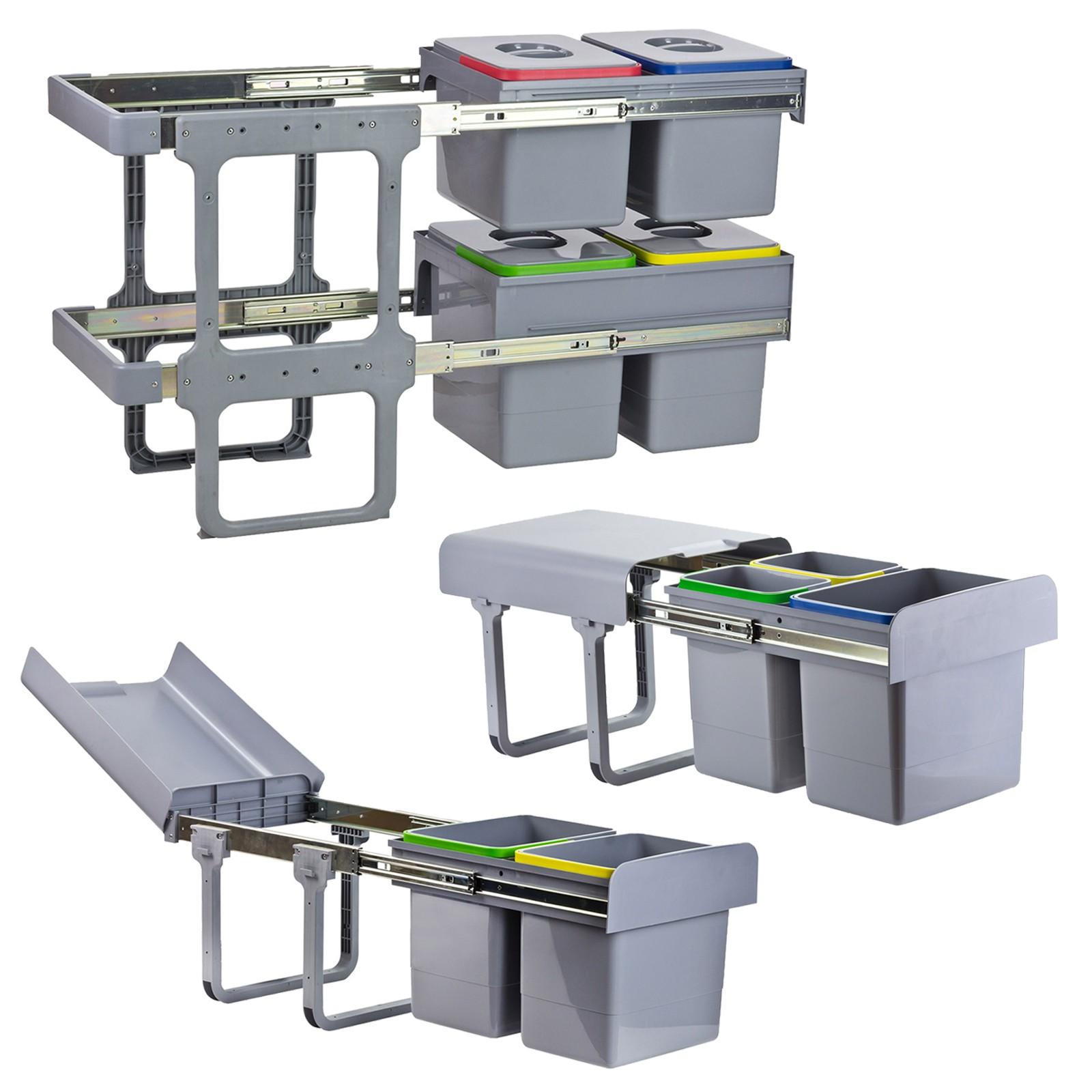 Abfallbehälter Für Die Küche: Mülleimer Vollauszug