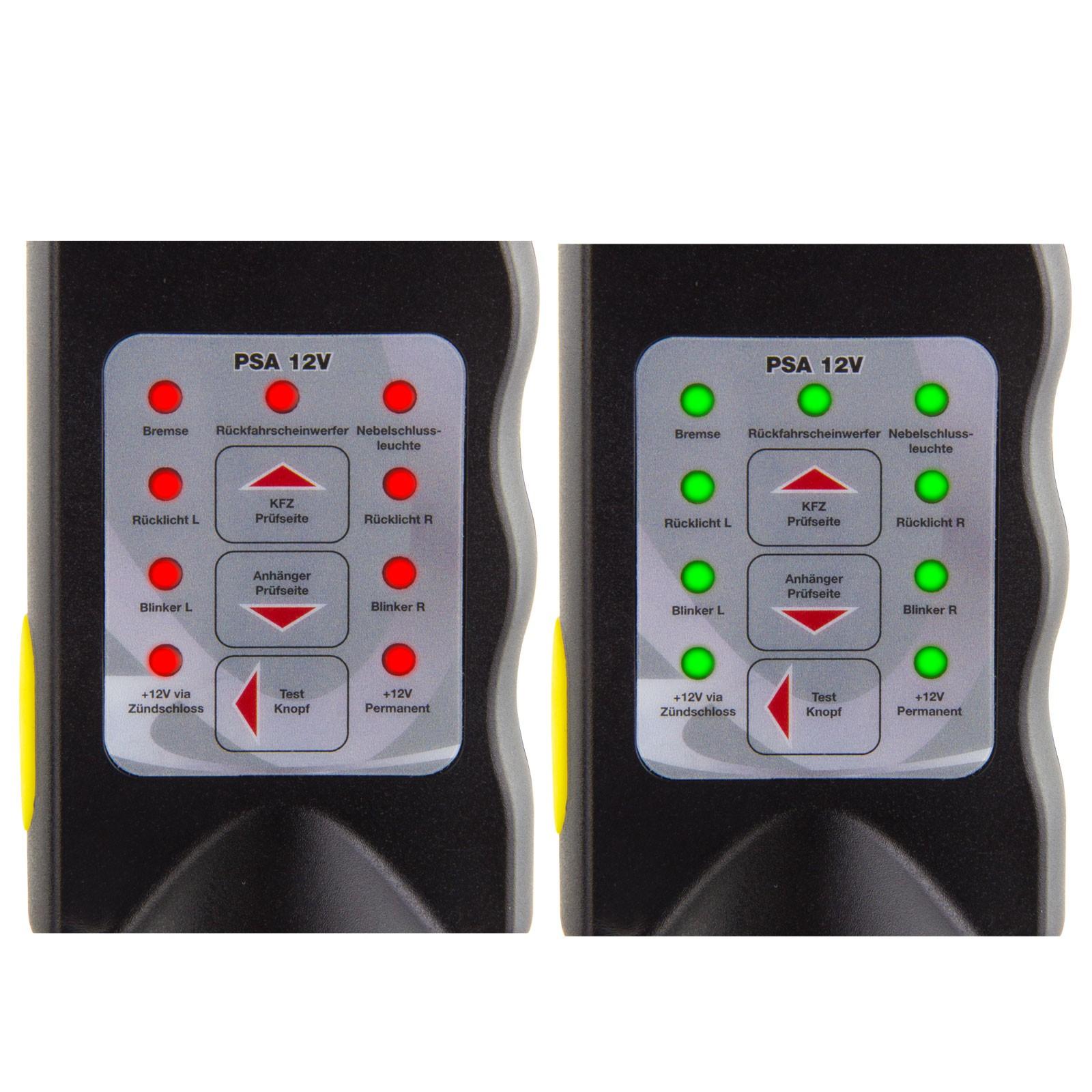 pr fstecker 7 13 polig beleuchtungstester f r anh nger 12 v. Black Bedroom Furniture Sets. Home Design Ideas