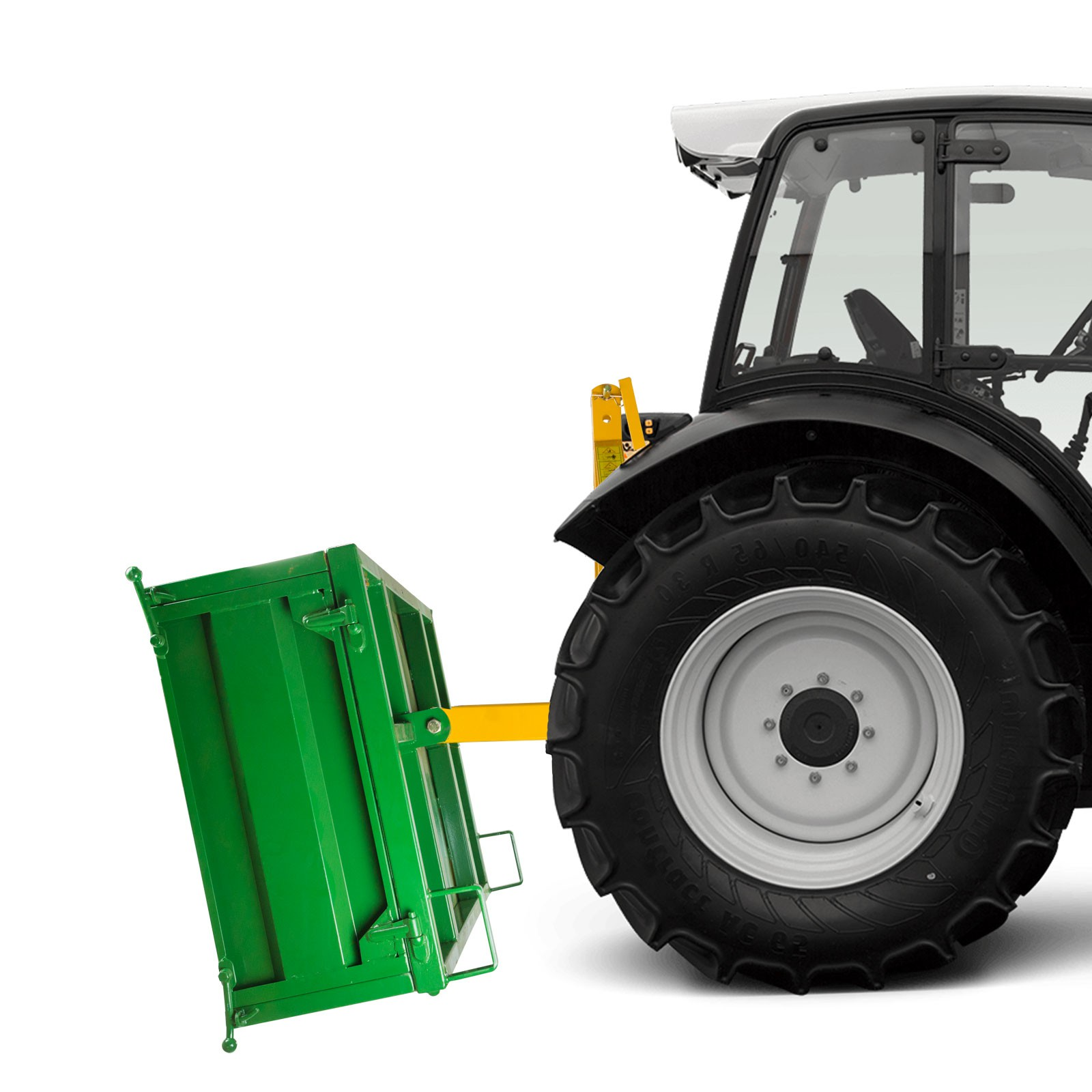 traktor heckcontainer mit bordwand 500 kg. Black Bedroom Furniture Sets. Home Design Ideas