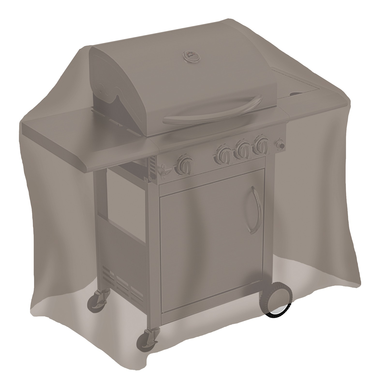 tepro gasgrill abdeckung abdeckhaube schutzh lle grillabdeckung mittel taupe ebay. Black Bedroom Furniture Sets. Home Design Ideas