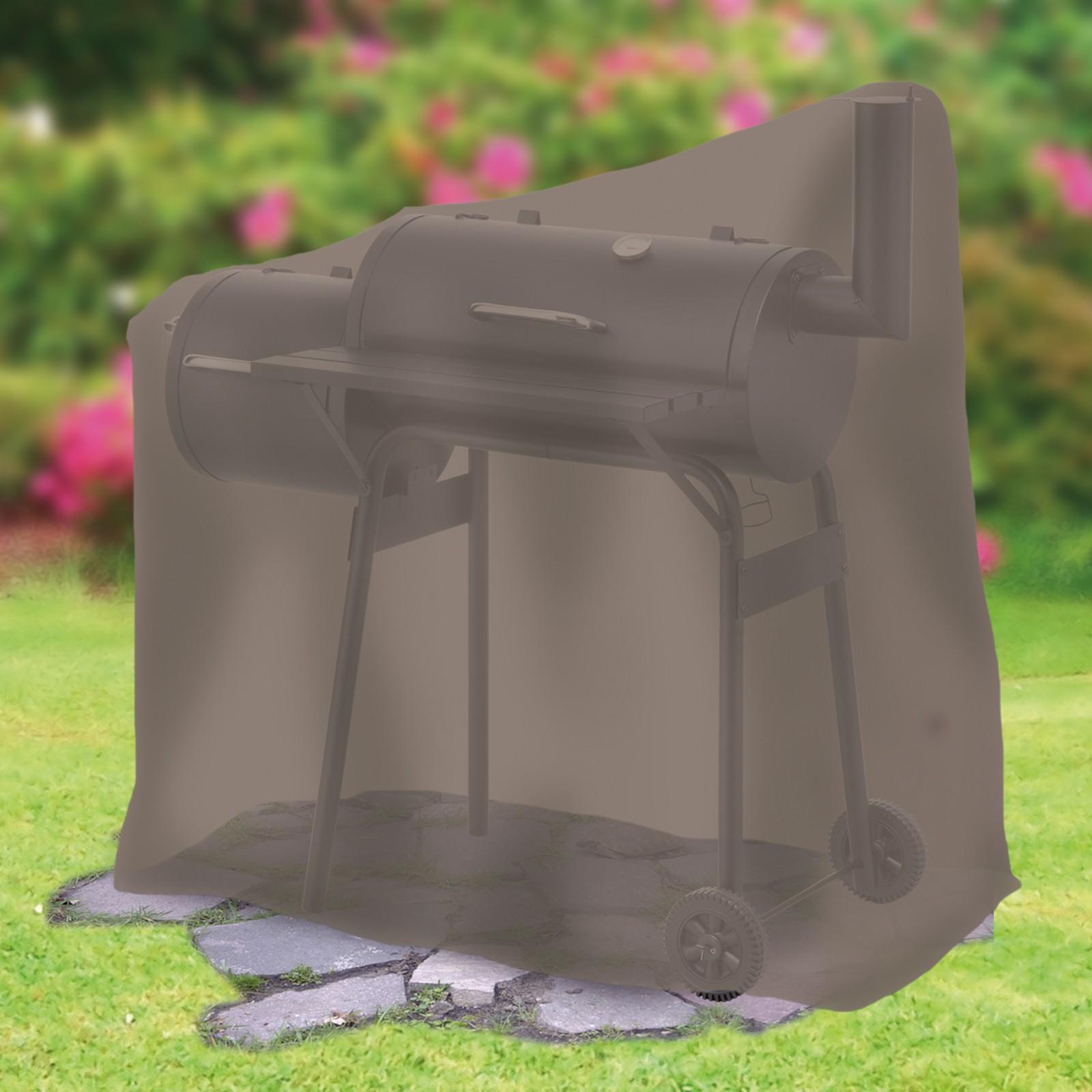 tepro grillabdeckung abdeckhaube f r smoker schutzh lle abdeckplane klein taupe ebay. Black Bedroom Furniture Sets. Home Design Ideas