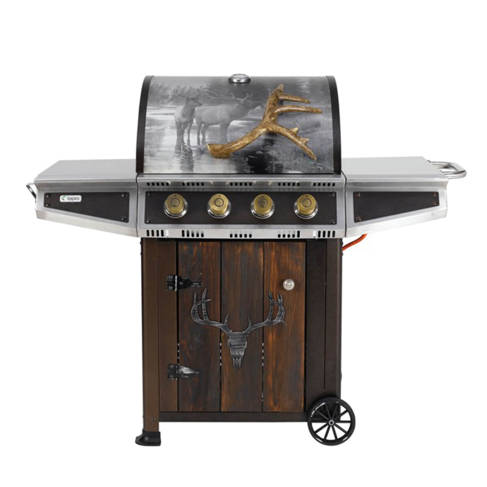 tepro gasgrill grillwagen bbq garten grill hunter valley natur motiv echtholzt r ebay. Black Bedroom Furniture Sets. Home Design Ideas