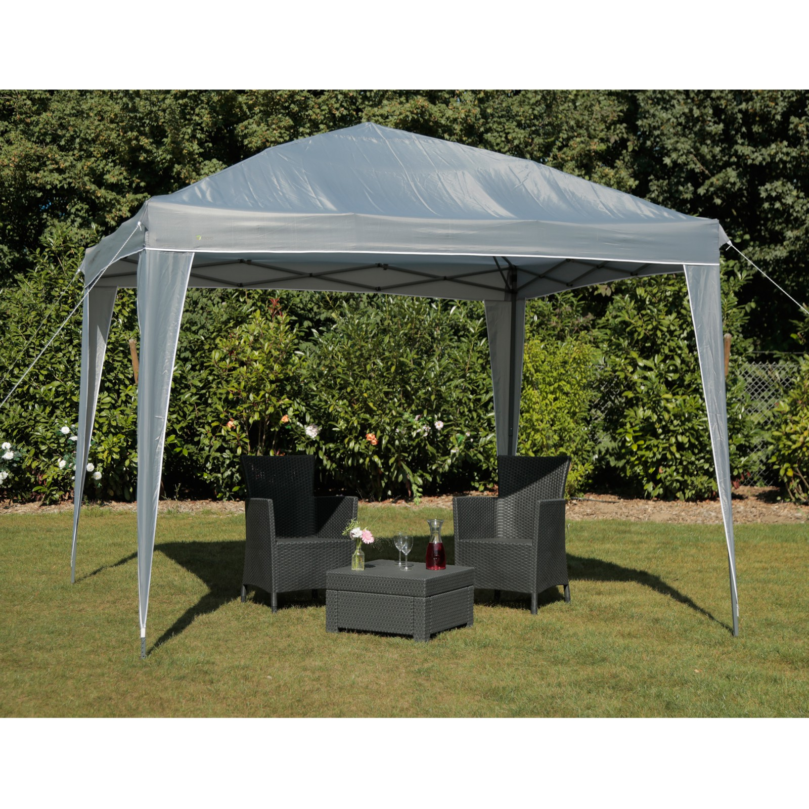 tepro faltpavillon pavillon 3x3 gartenpavillon belize grau partyzelt festzelt 4011964055025 ebay. Black Bedroom Furniture Sets. Home Design Ideas