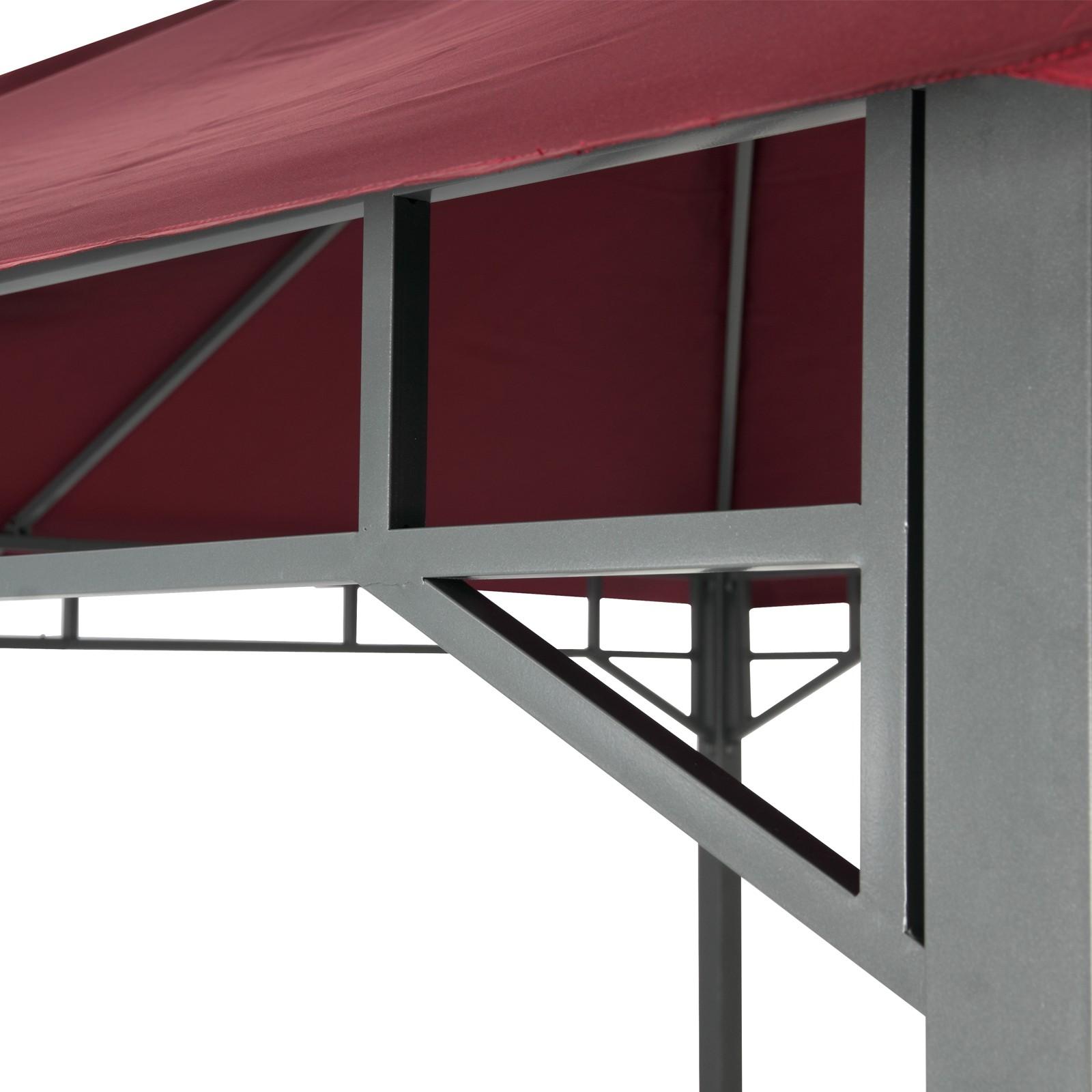 tepro gartenpavillon pavillon 3x3 stahlgestell garten partyzelt lehua burgund ebay. Black Bedroom Furniture Sets. Home Design Ideas