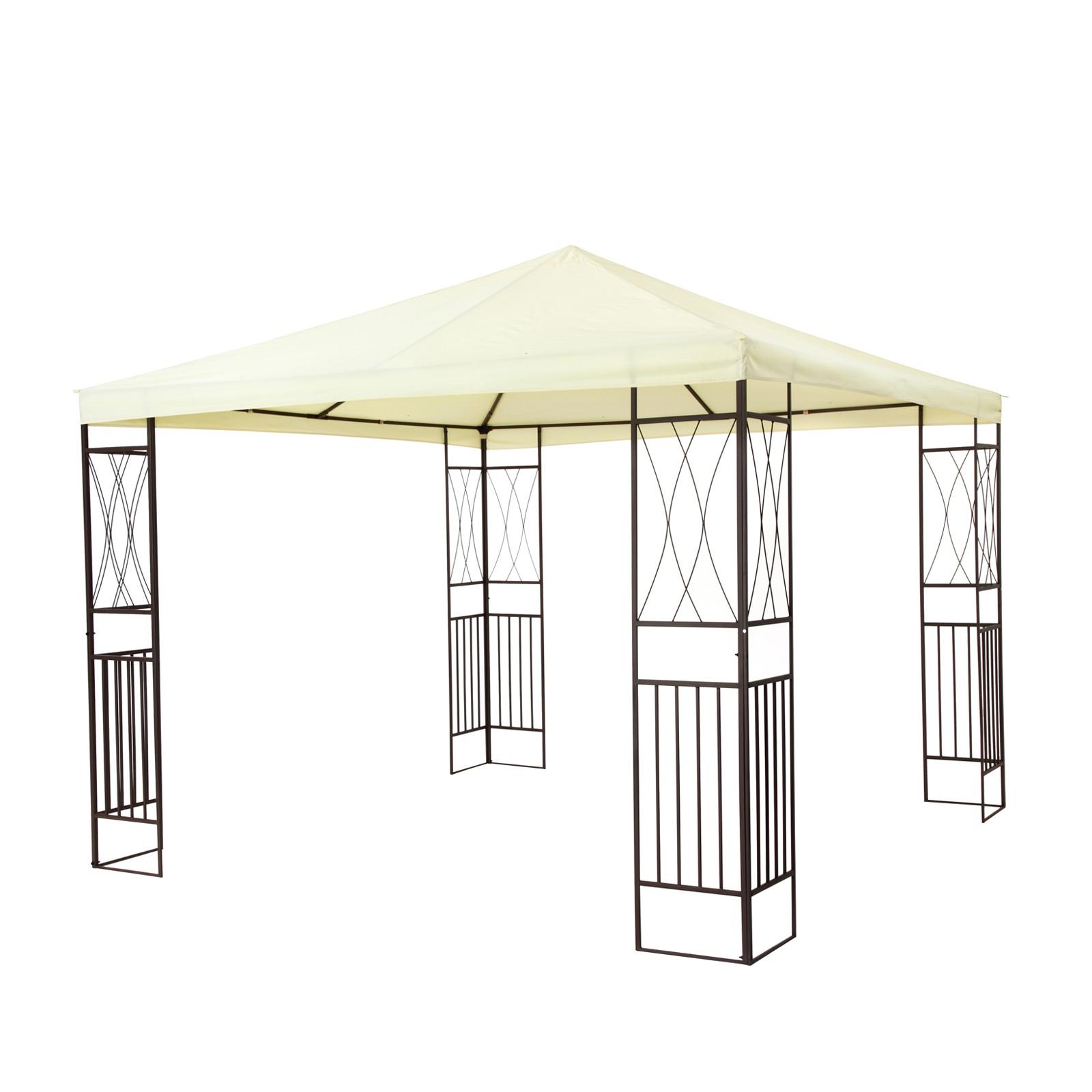 tepro garten pavillon gartenpavillon 3x3 m kaemi creme. Black Bedroom Furniture Sets. Home Design Ideas
