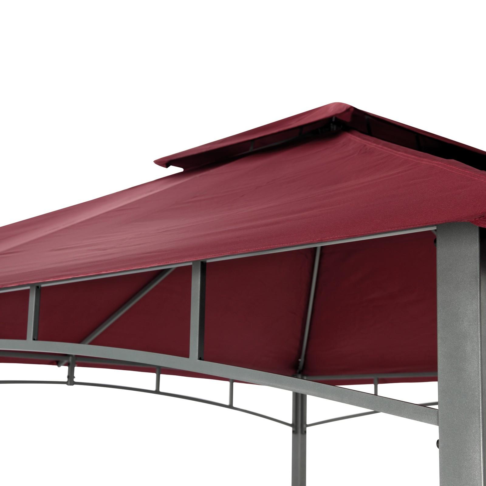 tepro gartenpavillon pavillon 3x3 m garten partyzelt gartenzelt waya burgund ebay. Black Bedroom Furniture Sets. Home Design Ideas