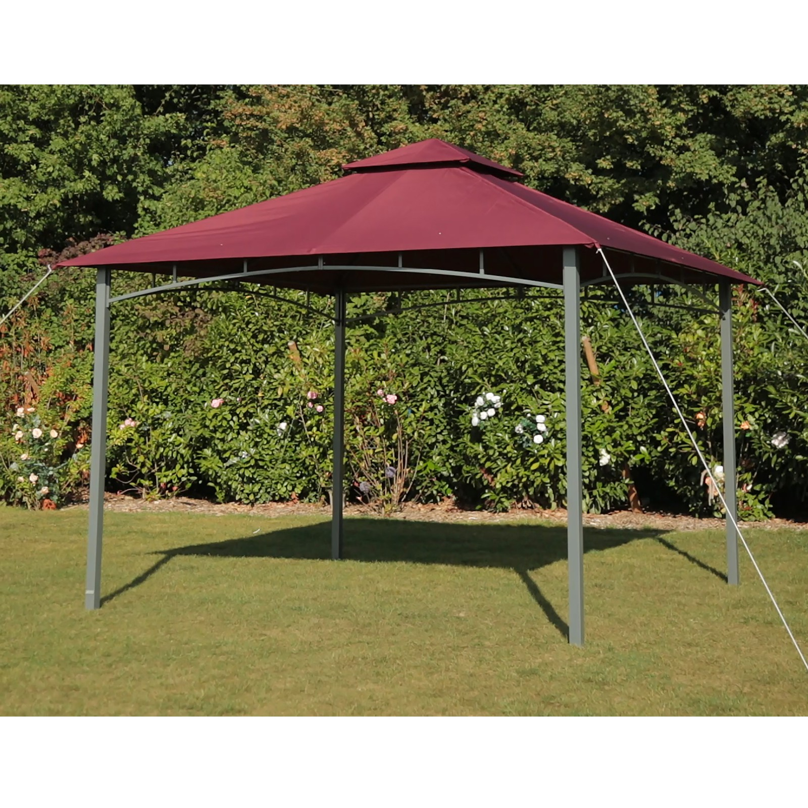 tepro gartenpavillon pavillon 3x3 m garten partyzelt gartenzelt waya burgund ebay. Black Bedroom Furniture Sets. Home Design Ideas