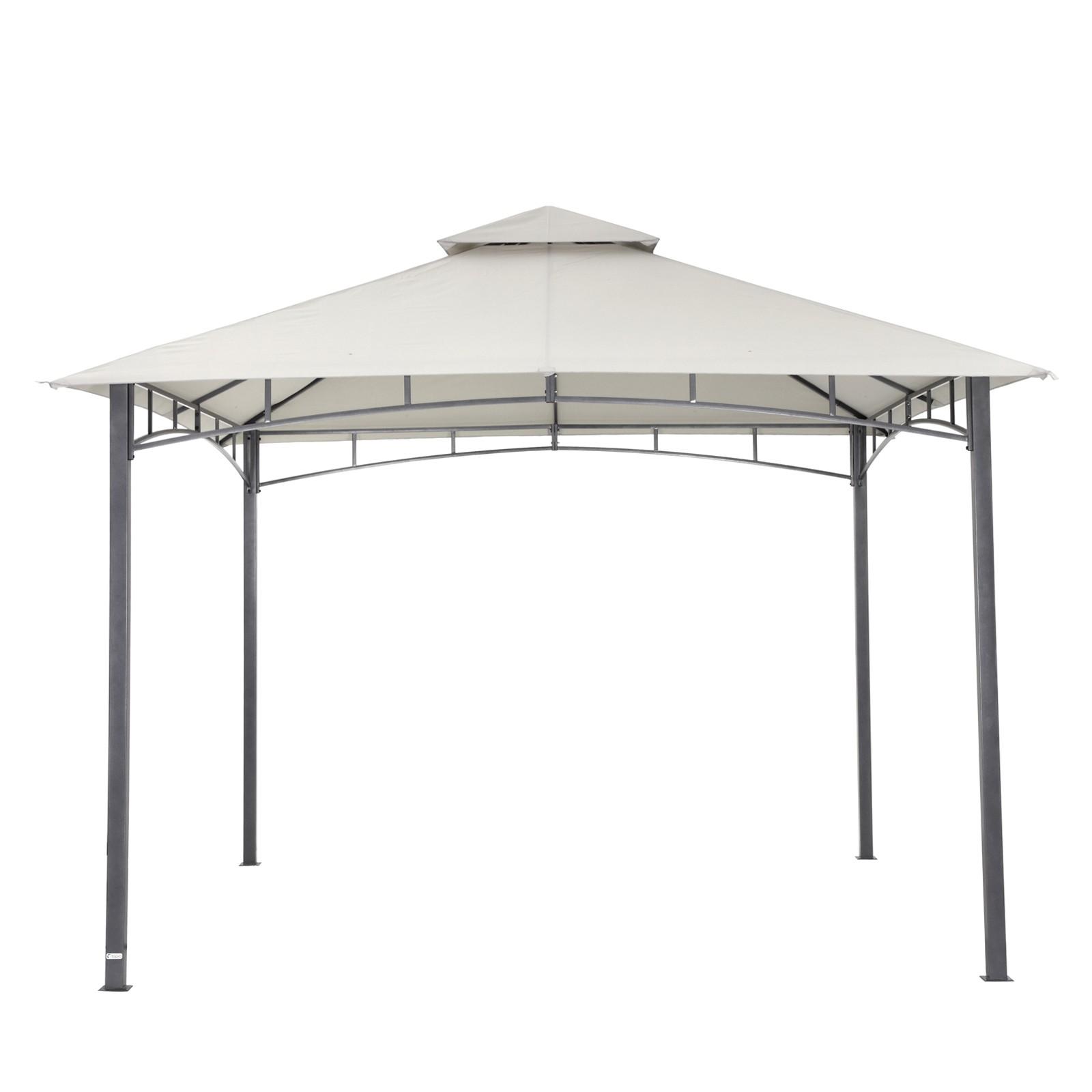 tepro garten pavillon 3x3 m gartenzelt waya grau. Black Bedroom Furniture Sets. Home Design Ideas
