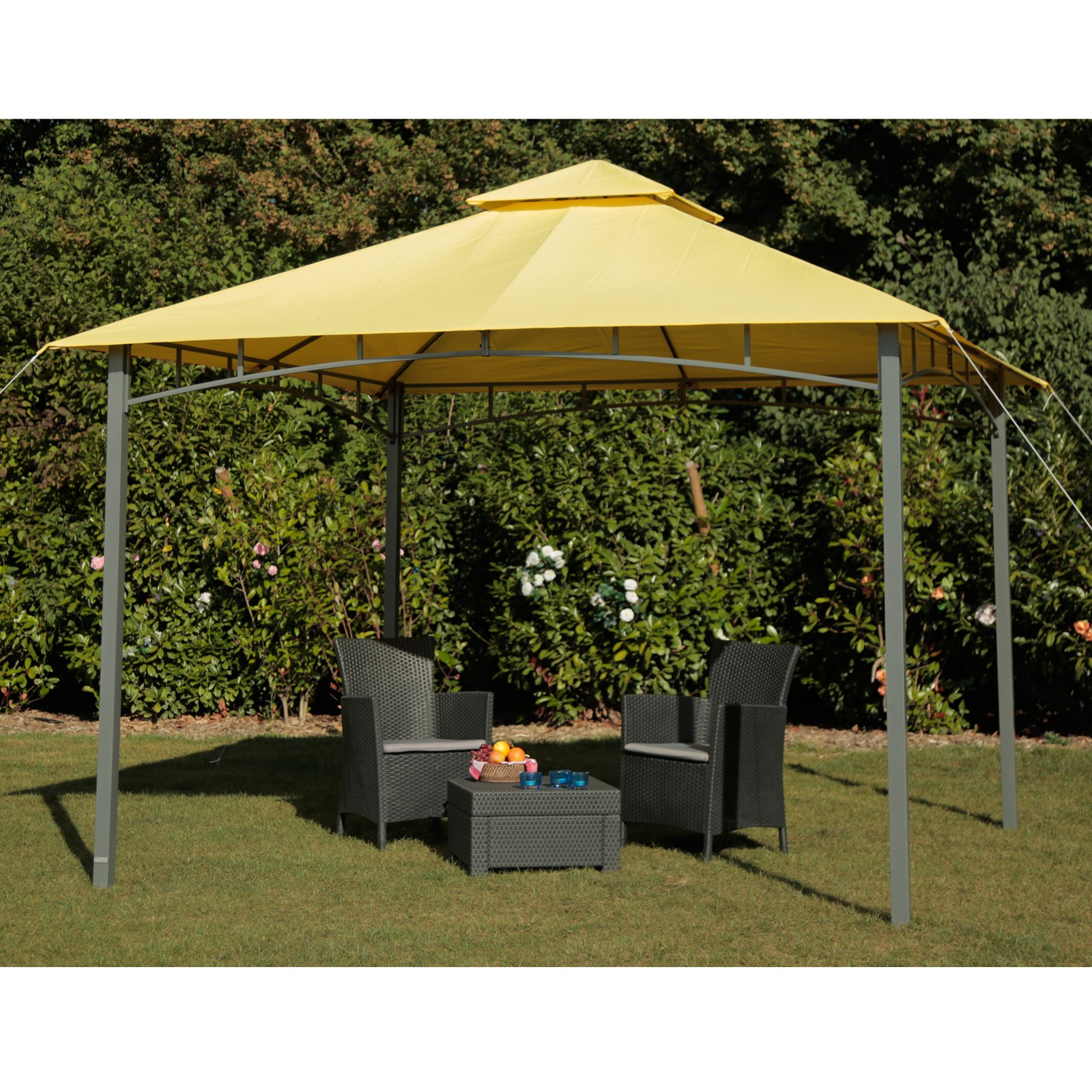 tepro garten pavillon 3x3 m gartenzelt wasserdicht camping partyzelt waya gelb 4011964055292 ebay. Black Bedroom Furniture Sets. Home Design Ideas