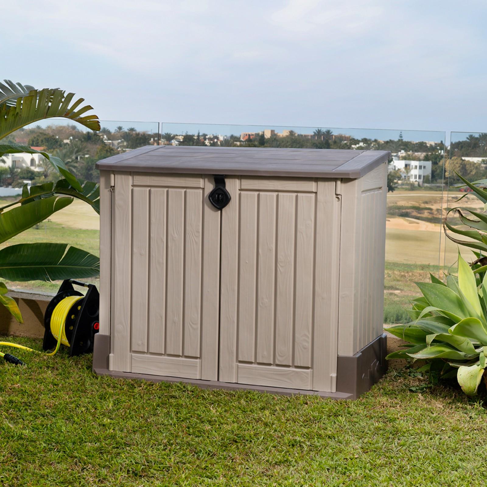 keter garten aufbewahrungsbox m lltonnenbox gartenbox. Black Bedroom Furniture Sets. Home Design Ideas