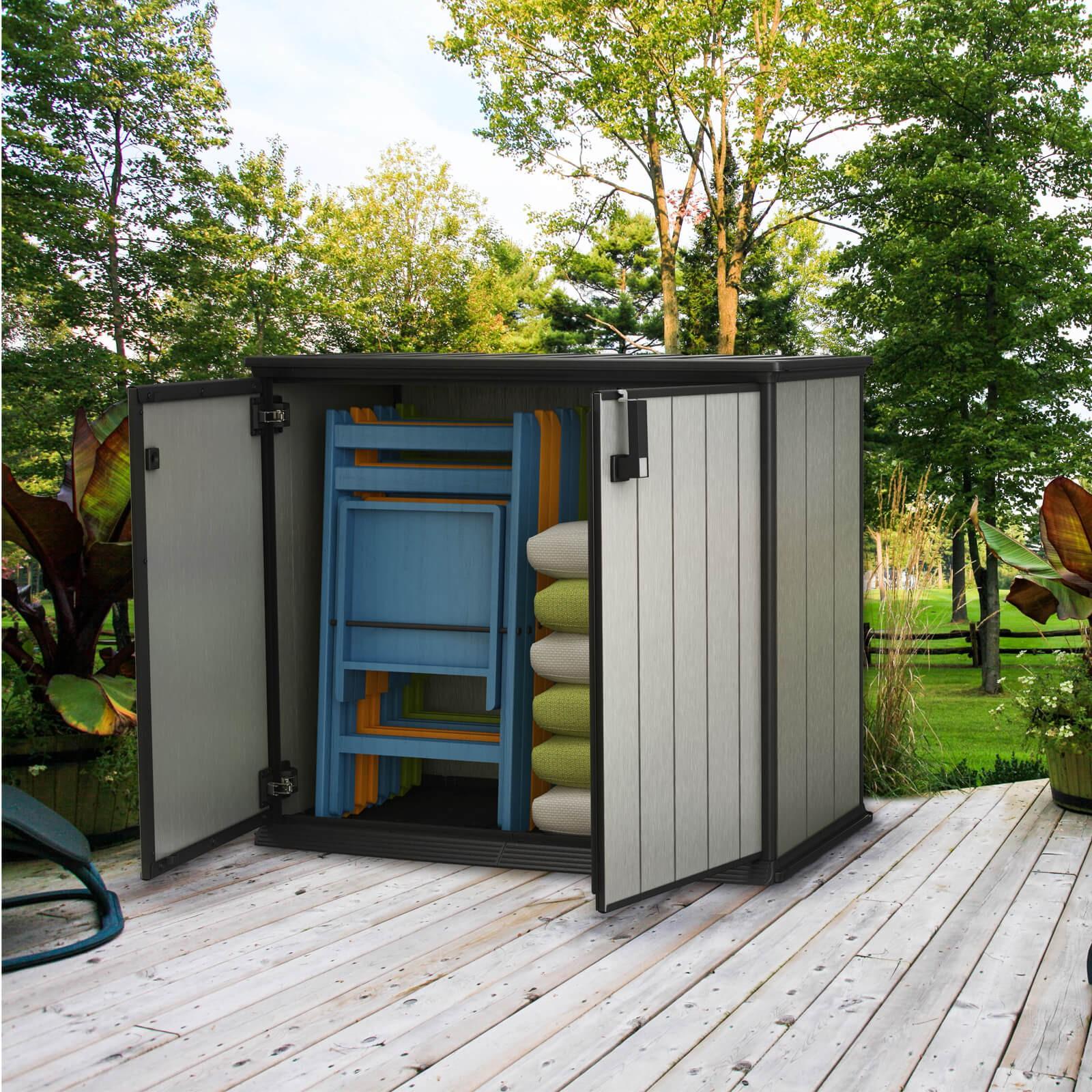 keter gartenschrank ger teschrank patio store 1000 liter. Black Bedroom Furniture Sets. Home Design Ideas