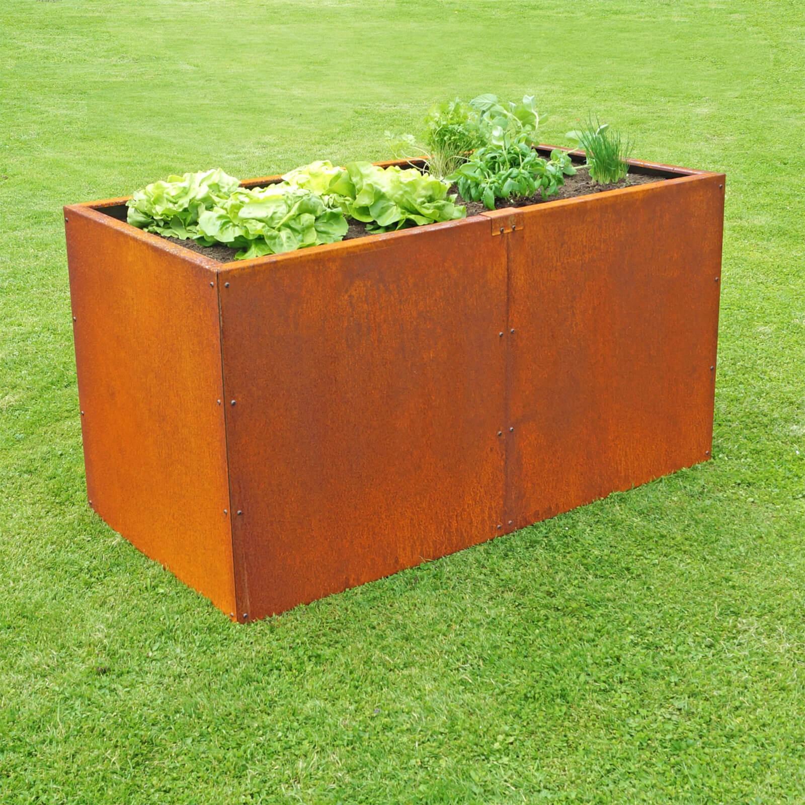 prima terra metall hochbeet edelrost beet h he 78 cm. Black Bedroom Furniture Sets. Home Design Ideas