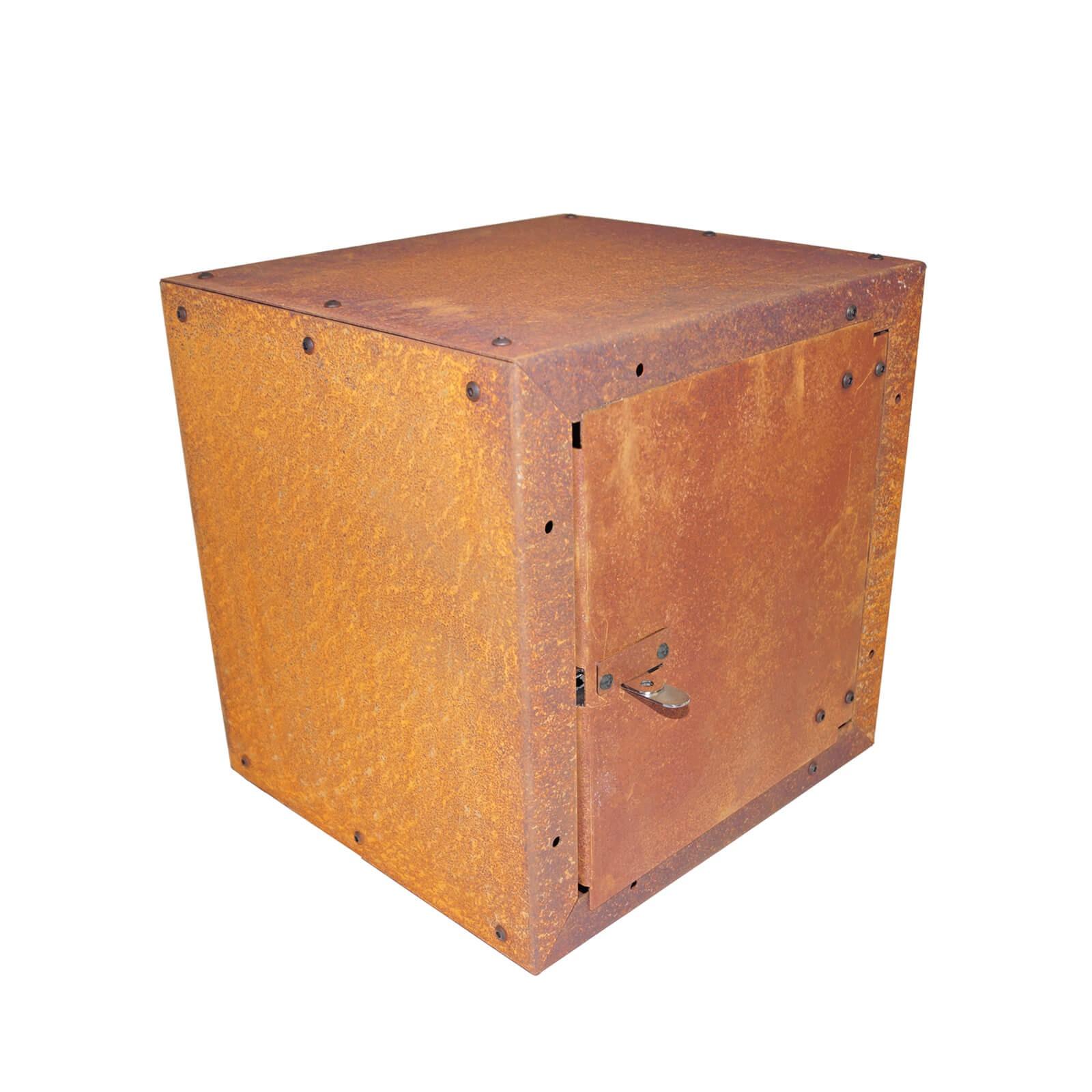 prima terra schrank gartenschrank edelrost infinita 38x38x35 cm ger teschrank ebay. Black Bedroom Furniture Sets. Home Design Ideas