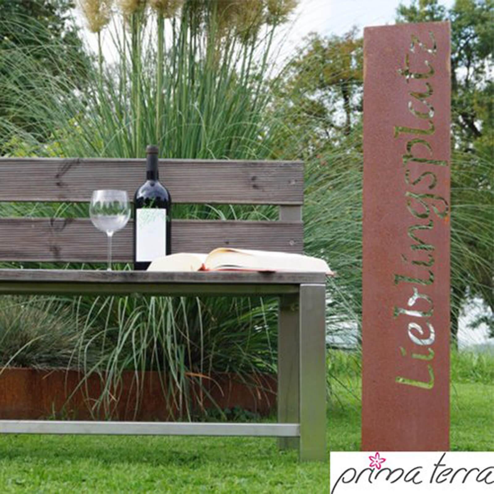 Prima terra edelrost gartenstecker lieblingsplatz for Gartenstecker edelrost