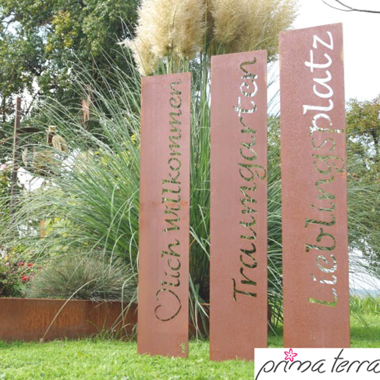 Inspirierend Gartendeko Edelrost Ideen