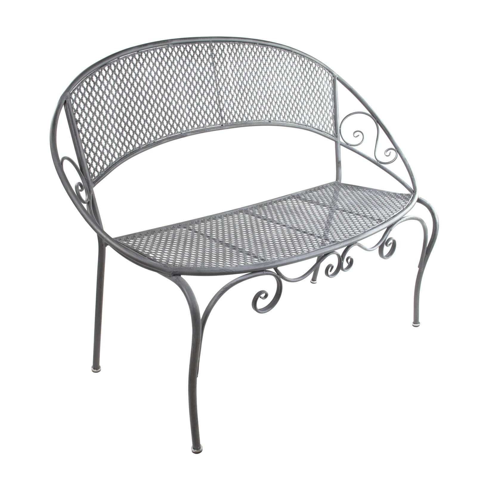 gartenbank parkbank provence grau 124x60x91 cm. Black Bedroom Furniture Sets. Home Design Ideas
