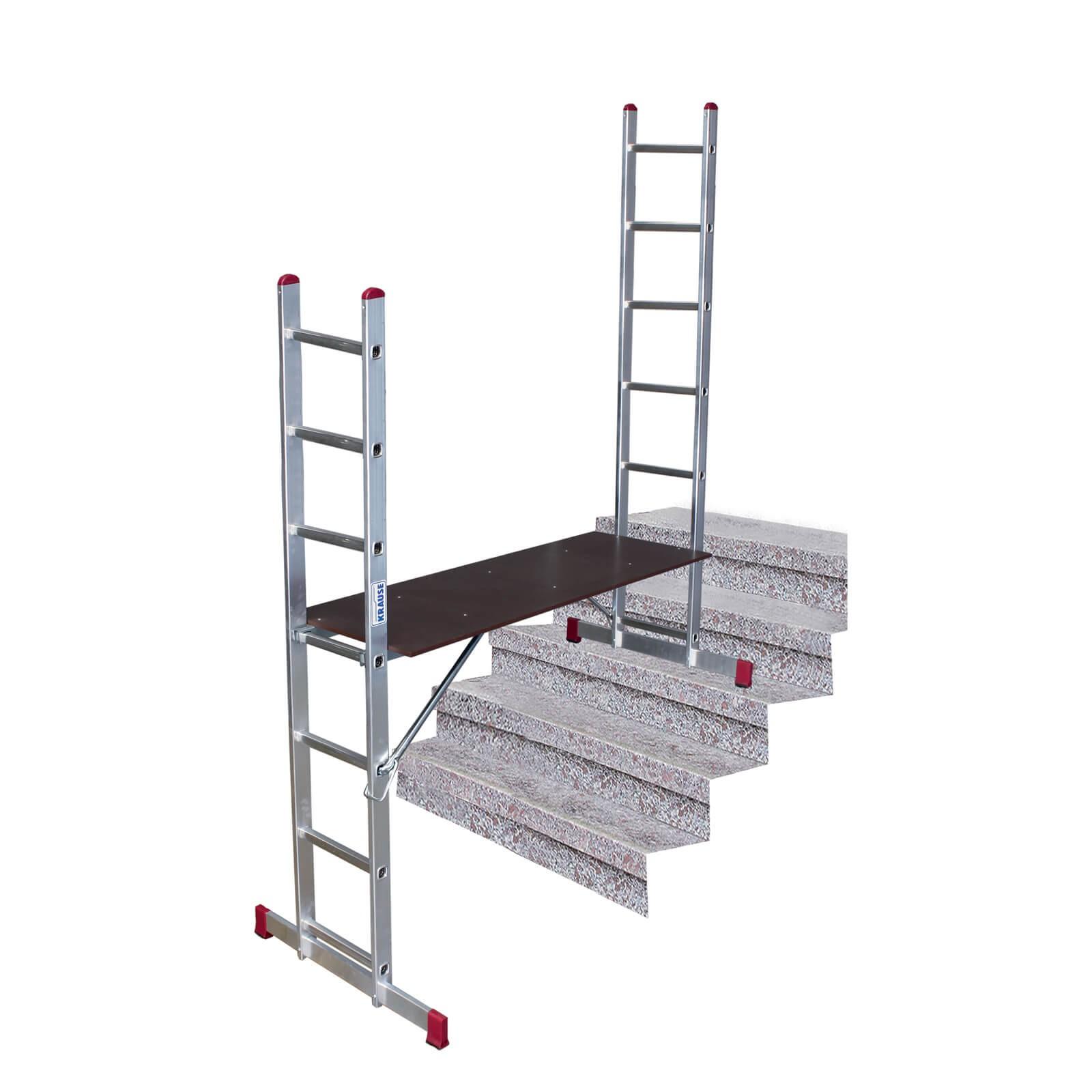 krause corda leiterger st multifunktions leiter ger st stehleiter 2x7 sprossen ebay. Black Bedroom Furniture Sets. Home Design Ideas