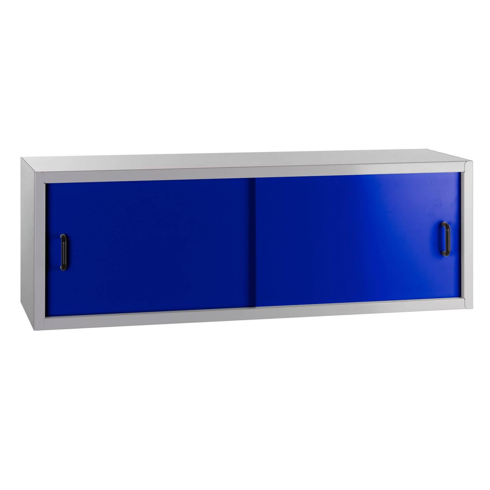 metall h ngeschrank wandschrank fernando 2 schiebet ren blau hellgrau. Black Bedroom Furniture Sets. Home Design Ideas