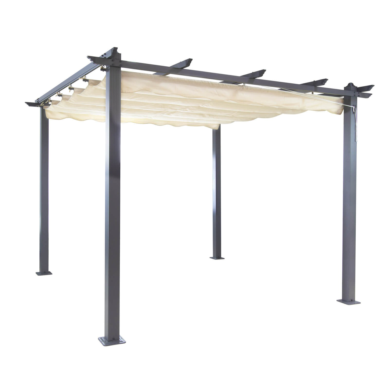 alu pergola sonnenschutz freiburg ecru 296x296cm. Black Bedroom Furniture Sets. Home Design Ideas
