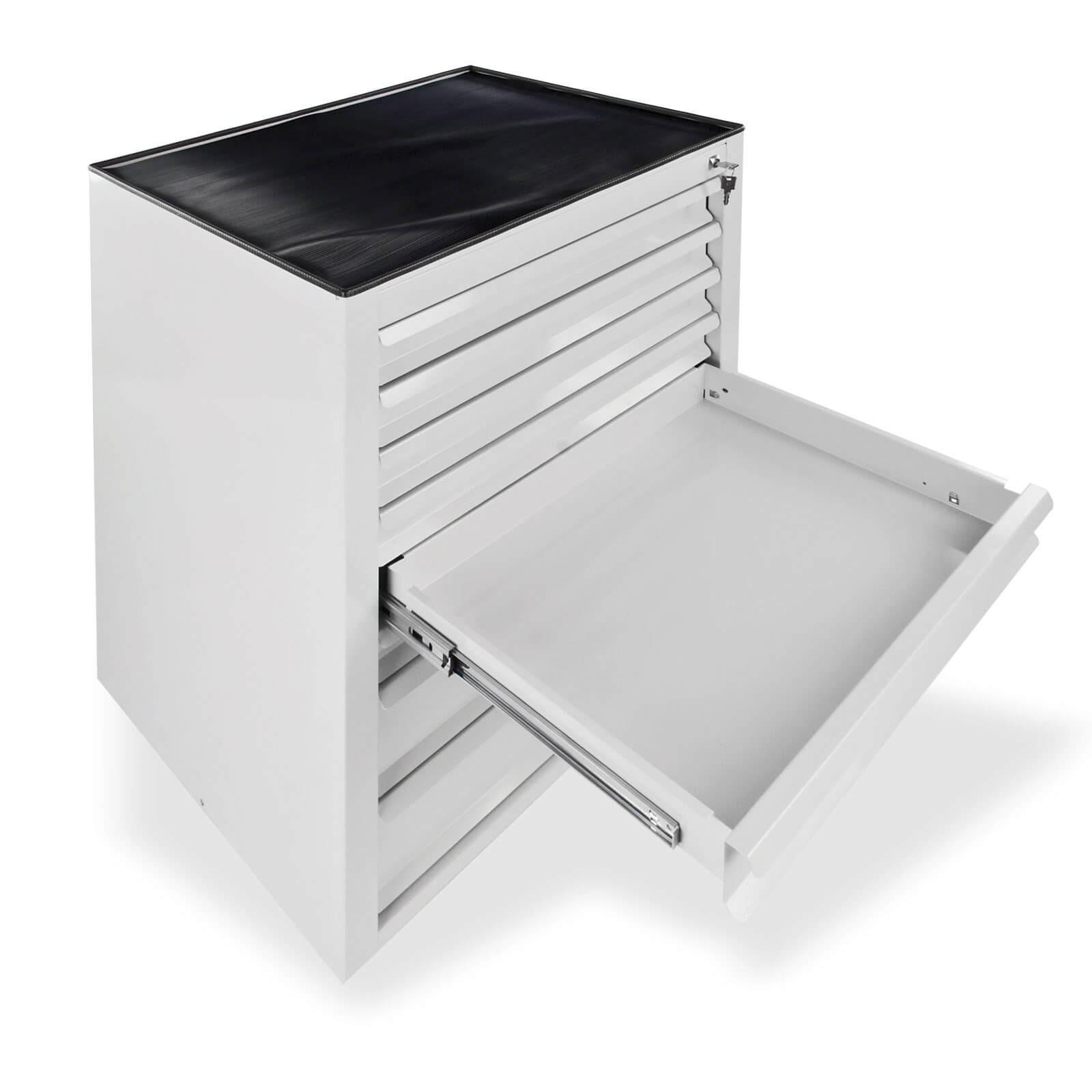 metall schubladenschrank werkzeugschrank fernando maxi 8 schubladen grau ebay. Black Bedroom Furniture Sets. Home Design Ideas