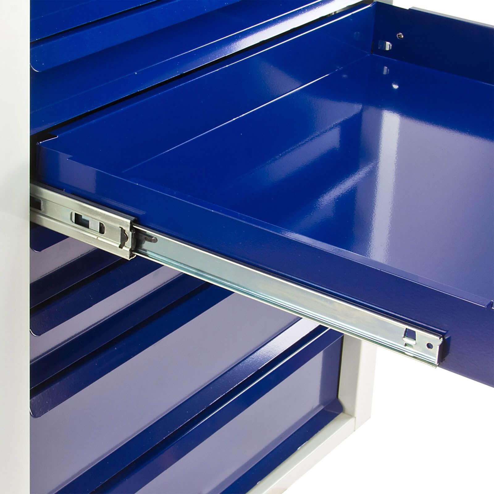 metall schubladenschrank werkzeugschrank fernando maxi 8 schubladen grau blau. Black Bedroom Furniture Sets. Home Design Ideas