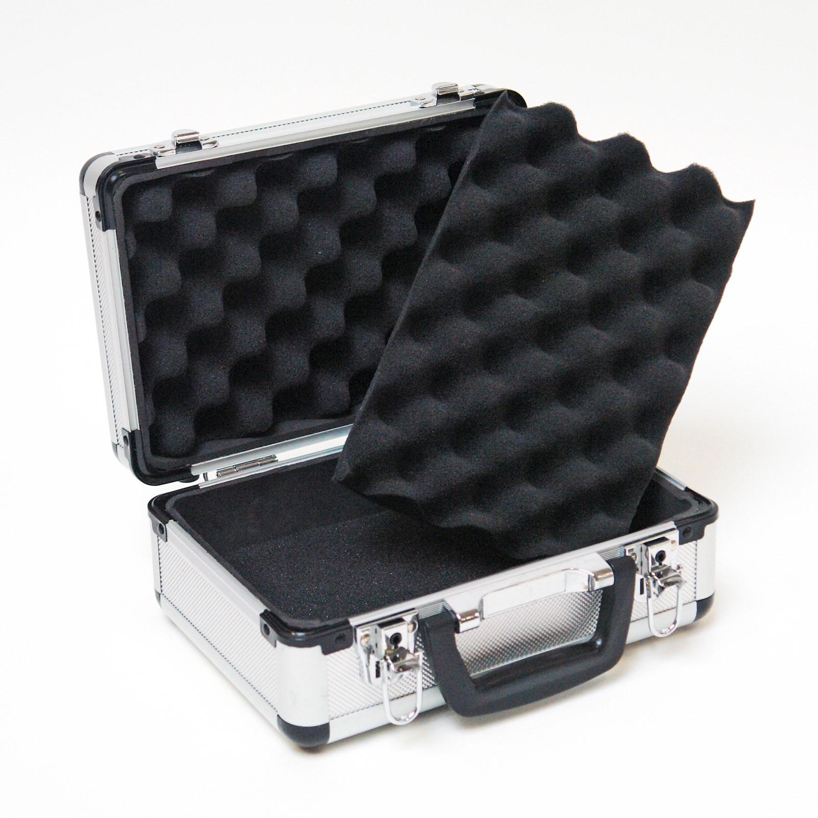 aluminium koffer mit schaumstoff allzweckkoffer. Black Bedroom Furniture Sets. Home Design Ideas