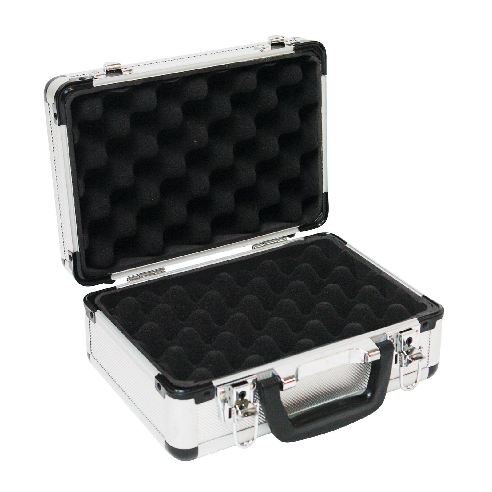 aluminium koffer waffenkoffer pistolenkoffer mit schaumstoff. Black Bedroom Furniture Sets. Home Design Ideas