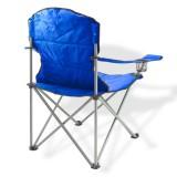 Campingstuhl / Faltstuhl Set blau und grün Getränkehalter Tasche Bild 2