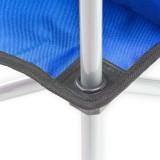 Campingstuhl / Faltstuhl Set blau und grün Getränkehalter Tasche Bild 3