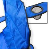 Campingstuhl / Faltstuhl Set blau und grün Getränkehalter Tasche Bild 4