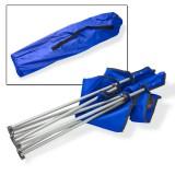 Campingstuhl / Faltstuhl Set blau und grün Getränkehalter Tasche Bild 5
