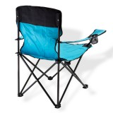 Campingstuhl / Faltstuhl Set grau und blau Getränkehalter Tasche Bild 2