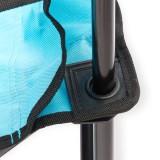Campingstuhl / Faltstuhl Set grau und blau Getränkehalter Tasche Bild 3