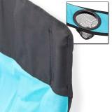Campingstuhl / Faltstuhl Set grau und blau Getränkehalter Tasche Bild 4