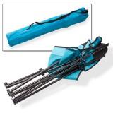 Campingstuhl / Faltstuhl Set grau und blau Getränkehalter Tasche Bild 5