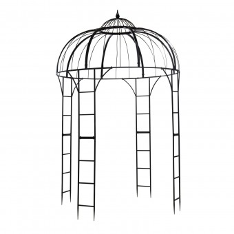 pavillon gartenpavillon ancona 3 5 x 5 3 m oval grau. Black Bedroom Furniture Sets. Home Design Ideas