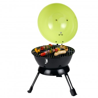 Tepro Holzkohlengrill / Mini-Kugelgrill Salida lemon