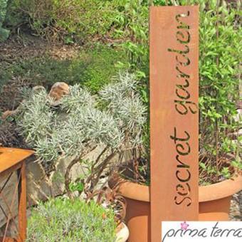Prima Terra Edelrost Gartendekoration Secret Garden U2013 Bild $_i