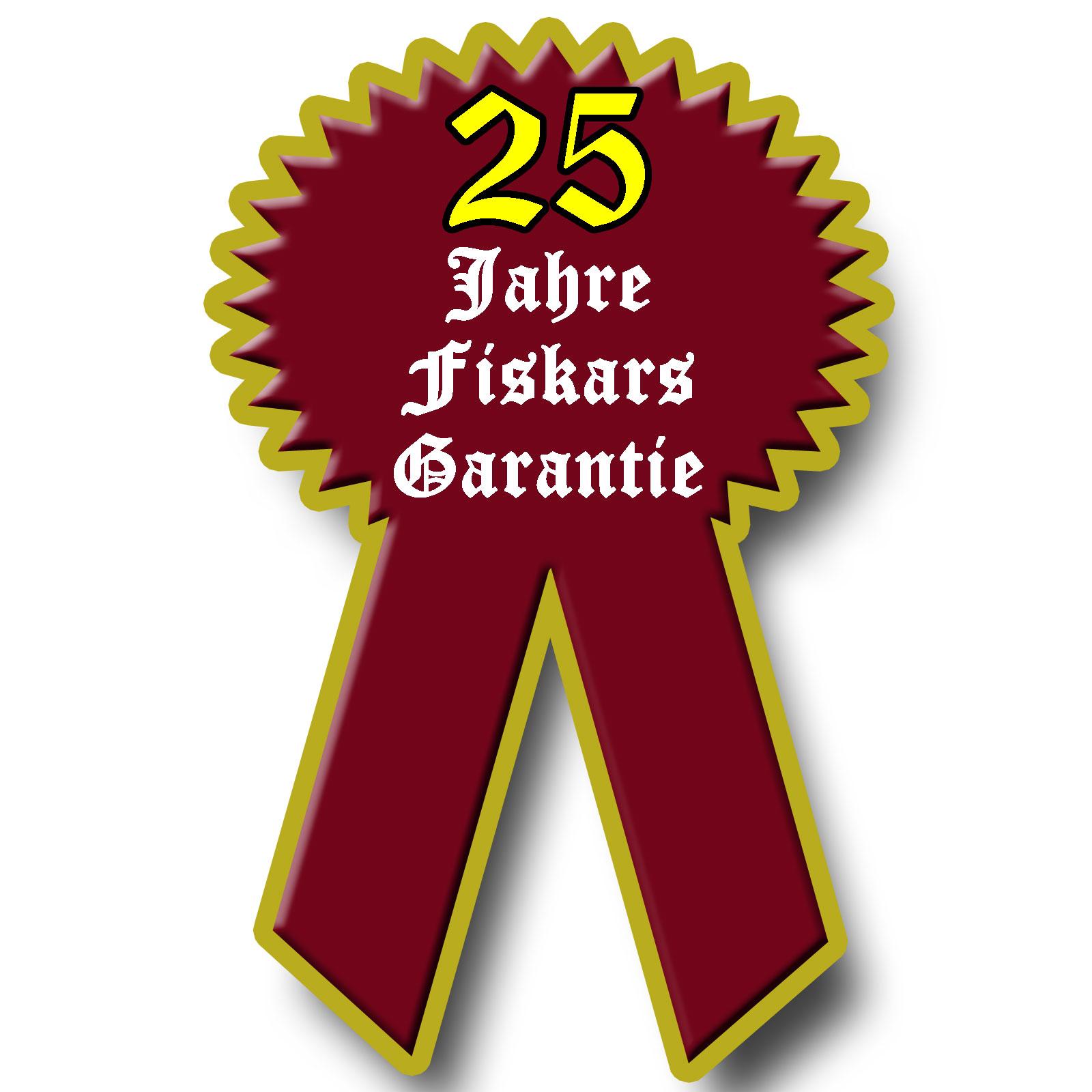 25 Jahre Fiskars Garantie