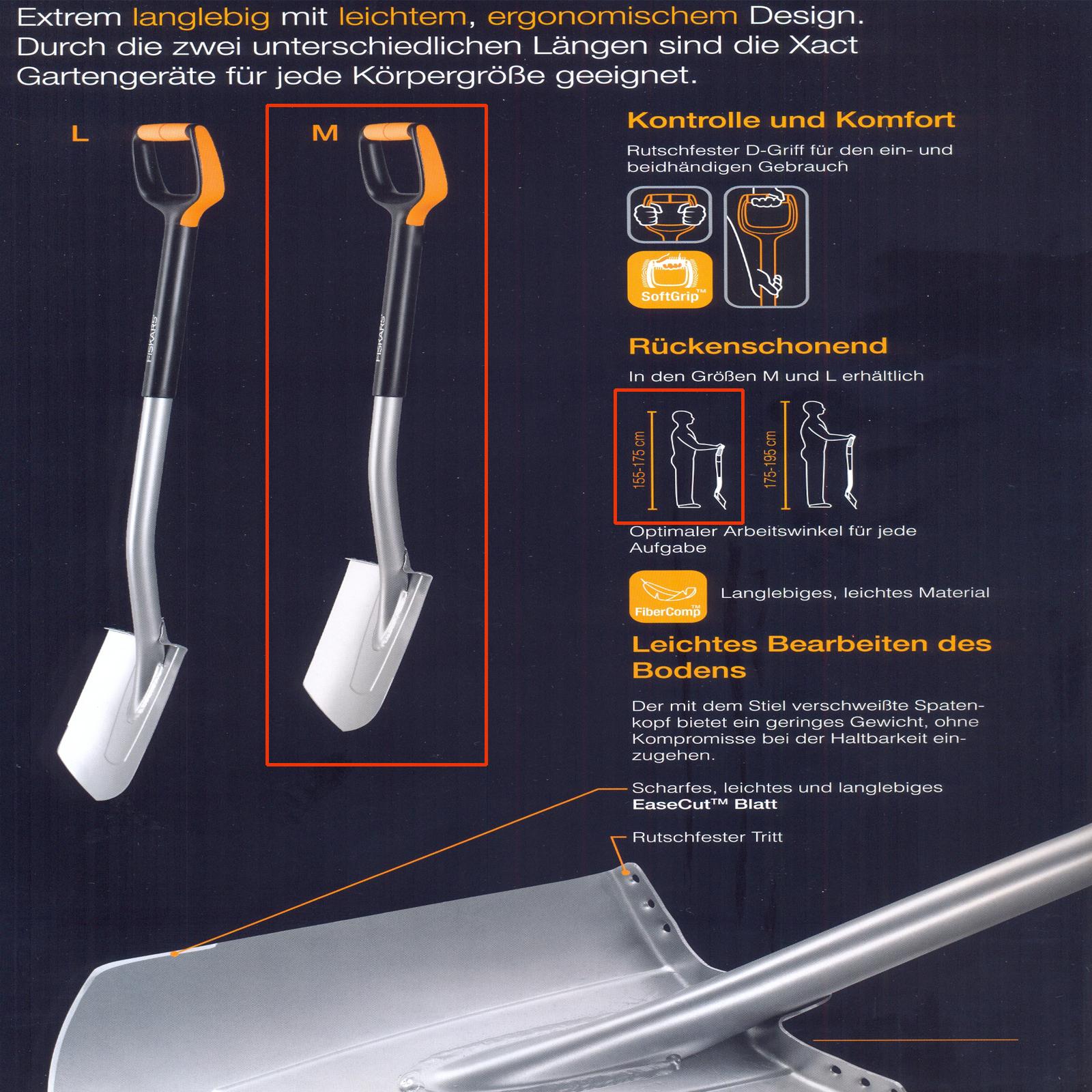 Fiskars Garten Spaten Grabgabeln Xact™ SmartFit™ Ergonomic™ Auswahl, , , var-fiskarsspaten