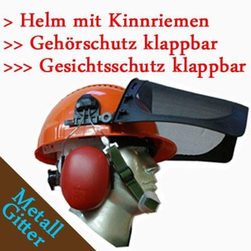 Forst Schnittschutz Set 2-tlg Forsthelm + kwf-Schnittschutzhose