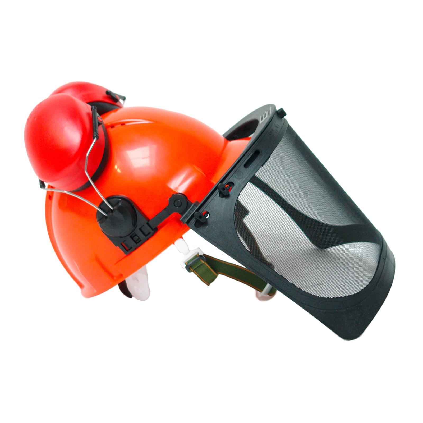 Forsthelm / Forstschutzhelm 54-63 cm orange normgerecht PSA-Forst Kopfschutz, Forsthelm-Kombination, PSA-Forst, Schutzhelm Waldarbeit, Sägehelm, Forstarbeitshelm, Waldarbeiterhelm, 4031765302234, 914454