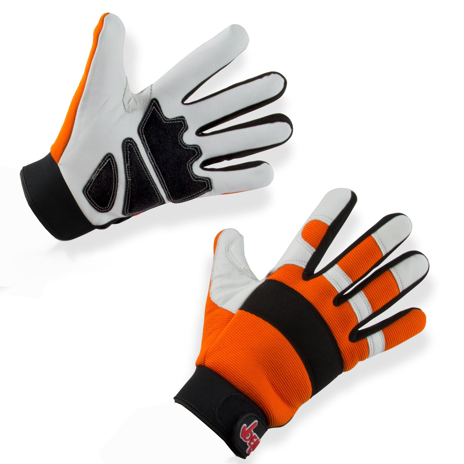 Marken Forst Schnittschutz-Handschuhe Gr. 9-12 Class1 DIN EN 381, Schnitthandschuhe, Schutzhandschuhe Motorsäge Kettensäge, PSA Forst, Schnittschutzhandschuhe, 30242, 30243, 30244, 30245