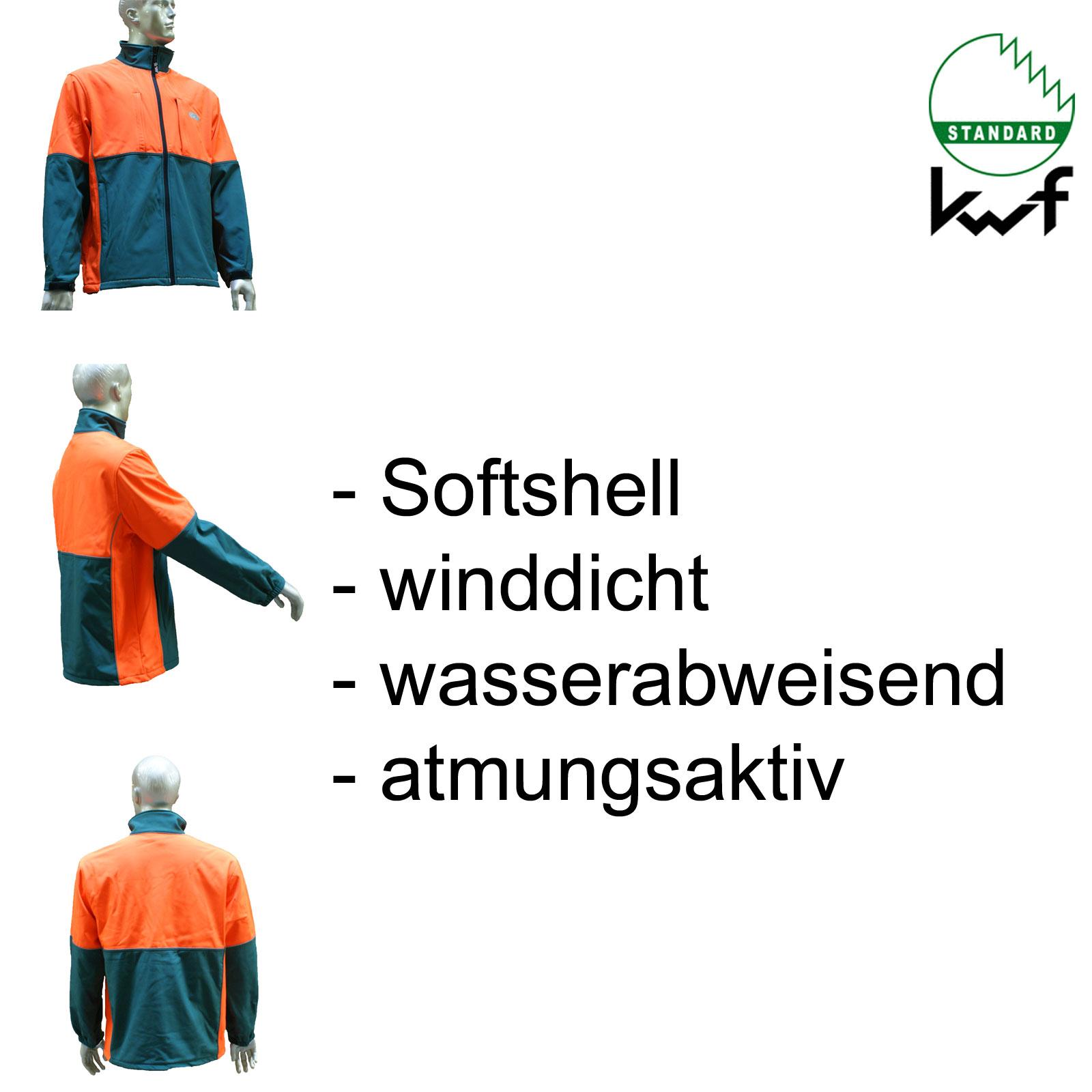 KWF FPA Forst Schnittschutz 3tlg Forsthelm Schnitthose Forstjacke
