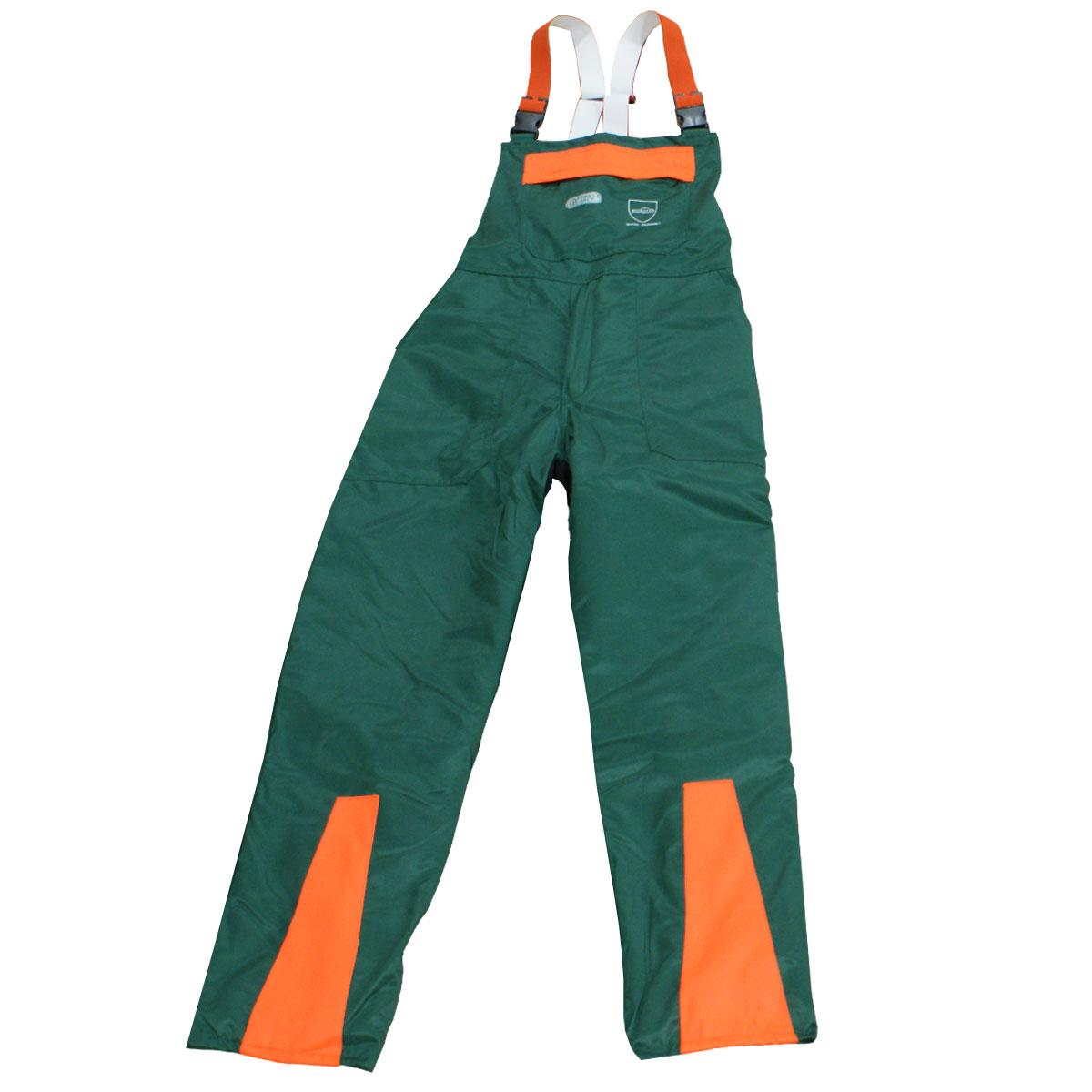 Bild zu KWF FPA Forst Schnittschutz-Latzhose EN 381 Class1 grün-orange