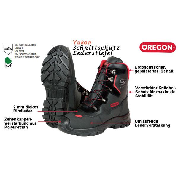 KWF FPA Schnittschutz-Stiefel Oregon YUKON Class1 + S2 EN ISO, PSA-Forst, Forststiefel, Kettensägen-Stiefel, Motorsägen-Stiefel, Waldarbeit, Holzarbeit,var-295449