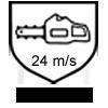 Motorsägen-Schnittschutz Klasse 2 bis 24 m/s