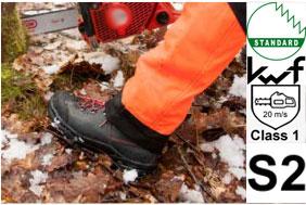 KWF FPA Schnittschutz-Stiefel Oregon WAIPOUA Leder S2+Class1 DIN EN ISO, PSA-Forst, Forststiefel, Kettensägen-Stiefel, Motorsägen-Stiefel, Waldarbeit, Holzarbeit,var-295479