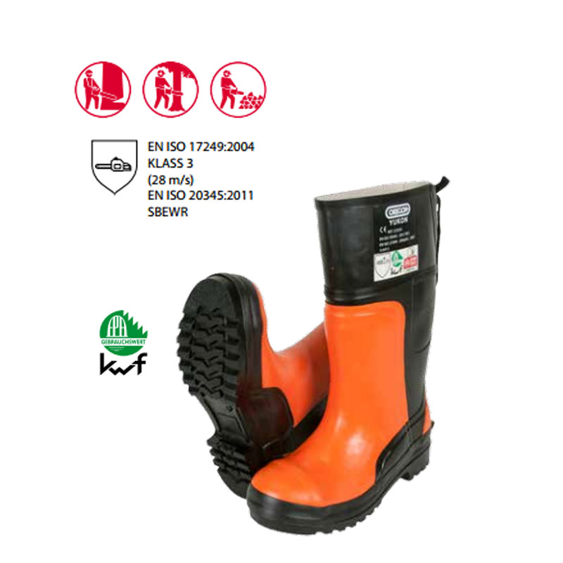 KWF FPA Forst Schnittschutz 3-tlg Helm Schnitthose Schutzstiefel