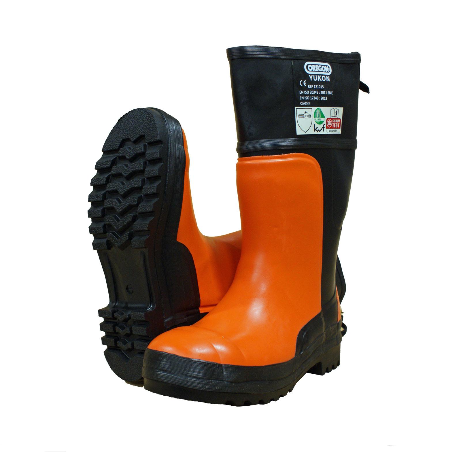 Bild zu KWF FPA Oregon Schnittschutz-Stiefel YUKON EN 345 Class 3 orange